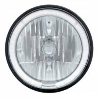 Headlight Parts - Headlight Bulbs - United Pacific - LED Headlight Bulb with White Halo