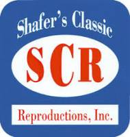 Shafer's Classic Reproductions - Backing Plate Backing Hole Cover