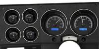 New Products - 1973-87 Chevy/GMC Truck - Dakota Digital - Dakota Digital VHX Gauge System Gauge System Black Alloy Blue