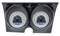 Camaro - Dakota Digital - VHX Series Gauges Silver Alloy Blue