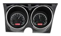 Classic Camaro Restoration Parts - Dakota Digital - Dakota Digital VHX Gauge System Black Alloy Red