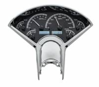 Classic Tri-Five Parts Online Catalog - Dakota Digital - VHX Series Gauges Clock Silver Alloy White