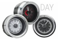 Classic Tri-Five Parts Online Catalog - Dakota Digital - VHX Series Gauges Clock Black Alloy White
