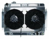 Classic Chevelle Parts Online Catalog - Cooling System Parts - Cold Case Radiators - Aluminum Radiator with Dual Electric Fans