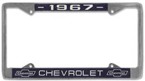Exterior Restoration Parts & Trim - License Plate & Light Parts - License Plate Frames