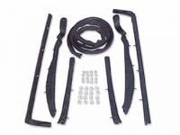 Convertible Top Restoration Parts - Top Weatherstrip - Soff Seal - Top Roof Rail Seal Kit