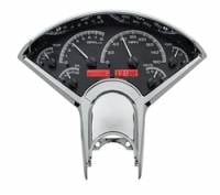Dakota Digital Gauge Systems - Dakota VHX Gauge Kits - Dakota Digital - Dakota Digital VHX Gauge System Black Alloy Red