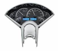 Dakota Digital Gauge Systems - Dakota VHX Gauge Kits - Dakota Digital - Dakota Digital VHX Gauge System Black Alloy Blue