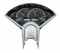 Dakota Digital Gauge Systems - Dakota VHX Gauge Kits - Dakota Digital - Dakota Digital VHX Gauge System Black Alloy White