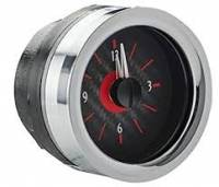Dakota Digital Gauge Systems - Dakota VHX Gauge Kits - Dakota Digital - Dakota Digital VHX Gauge System Clock Carbon Fiber Red