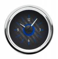 Dakota Digital Gauge Systems - Dakota VHX Gauge Kits - Dakota Digital - Dakota Digital VHX Gauge System Clock Carbon Fiber Blue
