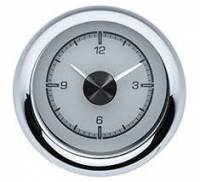 Dakota Digital Gauge Systems - Dakota VHX Gauge Kits - Dakota Digital - Dakota Digital VHX Gauge System Clock Silver Alloy Red
