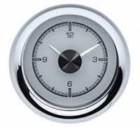 Classic Tri-Five Restoration Parts - Dakota Digital - Dakota Digital VHX Gauge System Clock Silver Alloy White