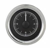 Classic Tri-Five Restoration Parts - Dakota Digital - Dakota Digital VHX Gauge System Clock Black Alloy Red