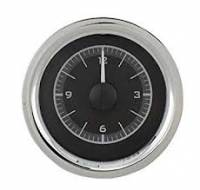 Dakota Digital Gauge Systems - Dakota VHX Gauge Kits - Dakota Digital - Dakota Digital VHX Gauge System Clock Black Alloy White