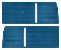 Interior Restoration Soft Goods - Door Panel Sets - PUI (Parts Unlimited Inc.) - Front Door Panels Bright Blue