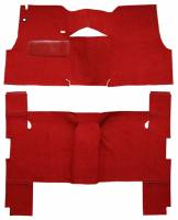 Classic Tri-Five Parts Online Catalog - Auto Custom Carpet - Red Daytona Loop Carpet