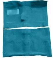 Classic Chevelle, Malibu, & El Camino Restoration Parts - Auto Custom Carpet - Bright Blue 80/20 Loop Carpet
