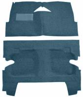 Classic Impala, Belair, & Biscayne Restoration Parts - Auto Custom Carpet - Blue Tuxedo Carpet