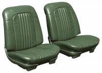 Chevelle - Seat Covers - Distinctive Industries - Front Seat Covers Dark Green
