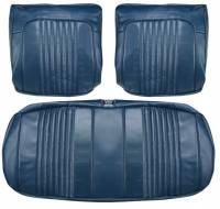 Chevelle - Seat Covers - Distinctive Industries - Front Seat Covers Dark Blue