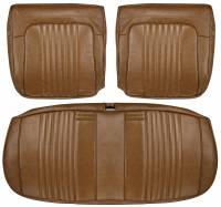 Chevelle - Seat Covers - Distinctive Industries - Front Seat Covers Dark Saddle