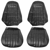 Classic Camaro Restoration Parts - Distinctive Industries - Front Seat Covers Black