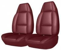 Interior Soft Goods - Seat Covers - Distinctive Industries - Front Seat Covers Carmine