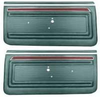 Classic Nova Parts Online Catalog - Interior Soft Goods - PUI - Front Door Panels Dark Metillac Green