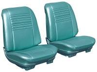 Interior Soft Goods - Seat Covers - Distinctive Industries - Front Seat Covers Aqua