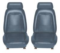 Interior Soft Goods - Seat Covers - Distinctive Industries - Front Seat Covers Dark Blue