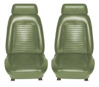 Interior Soft Goods - Seat Covers - Distinctive Industries - Front Seat Covers Dark Green