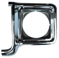 Headlight Parts - Headlight Bezels - H&H Classic Parts - Headlight Bezel LH Chrome