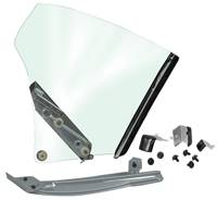 Glass - Quarter Window Assemblies - Dynacorn - Quarter Window Assembly LH