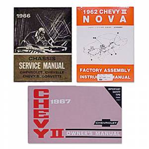 Classic Nova & Chevy II Restoration Parts - Books & Manuals