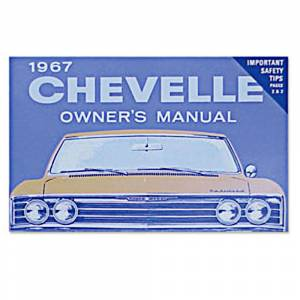 Classic Chevelle Parts Online Catalog - Books & Manuals - Owners Manuals