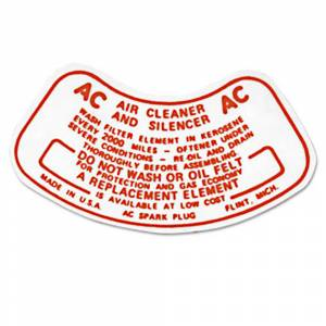 Classic Chevy & GMC Parts Online Catalog - Decals - Air Cleaner Decals
