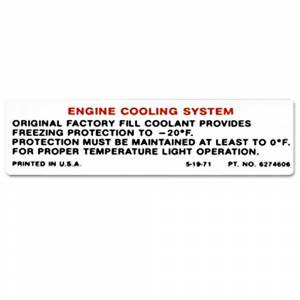 Classic Chevy & GMC Parts Online Catalog - Decals - Cooling System Decals