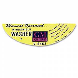 Classic Chevy & GMC Parts Online Catalog - Decals - Windshield Washer Decals