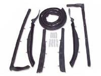 Convertible Top Restoration Parts - Top Weatherstrip - T&N - Top Roof Rail Seal Kit