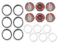 Taillight Parts - Taillight Lenses - H&H Classic Parts - Taillight Lens Kit with Trim