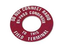 Decals & Stickers - Charging System Decals - Jim Osborn Reproductions - Generator Warning Tag