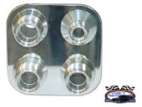 Impala - AC Parts - Vintage Air - Square Bulk Head with 8-10 Fittings