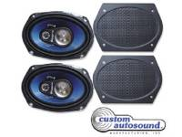 Radio Parts - Speakers - Custom Auto Sound - Rear Speakers with Grilles