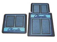 Floor Mats - Carpeted Floor Mats - Resto Parts - Floor Mats Blue