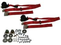 Seatbelt Solutions - 3-Point Seat Belts Red