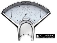 Dash Parts - Classic Instrument Gauge Kits - Classic Instruments - Classic Instruments Gauge Kit (White with Black Letters)