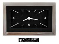 Tri-Five - Classic Instruments - Classic Instruments Clock (Black with White Letters)