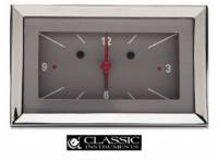 Dash Parts - Classic Instrument Gauge Kits - Classic Instruments - Classic Instruments Clock (Gray with Red/White Letters)