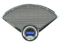 Dakota Digital Gauge Systems - Dakota VHX Gauge Kits - Dakota Digital - VHX Series Gauges Clock Silver Alloy Blue
